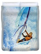 Cutting The Surf Duvet Cover by Hanne Lore Koehler