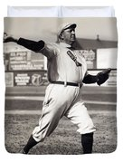CY YOUNG - AMERICAN LEAGUE PITCHING SUPERSTAR - 1908 Duvet Cover by Daniel Hagerman