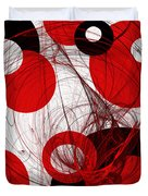Cyclone Circle Abstract Duvet Cover by Andee Design