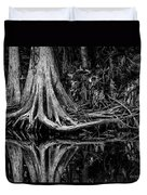 Cypress Roots - Bw Duvet Cover by Christopher Holmes