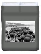 D-day Soldiers In A Higgins Boat  Duvet Cover by War Is Hell Store