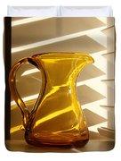 Dad's Amber Pitcher By Blenko Glass Duvet Cover by Karen Adams
