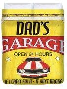Dad's Garage Duvet Cover by Debbie DeWitt