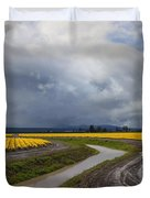 Daffodil Lane Duvet Cover by Mike  Dawson