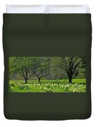 Daffodil Meadow Duvet Cover by Ann Horn