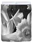 Daffodil Monochrome Study Duvet Cover by Chris Berry