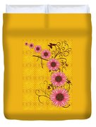 Daisies Design - S01y Duvet Cover by Variance Collections