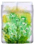 Daisies Duvet Cover by Zaira Dzhaubaeva