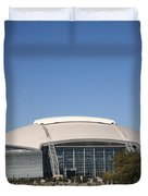 Dallas Cowboys Stadium Duvet Cover by Frank Romeo