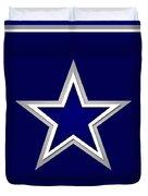 Dallas Cowboys Duvet Cover by Tony Rubino