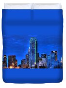 Dallas Skyline Hd Duvet Cover by Jonathan Davison