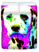 Dalmation Dog 20130125v1 Duvet Cover by Wingsdomain Art and Photography
