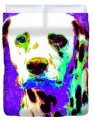 Dalmation Dog 20130125v4 Duvet Cover by Wingsdomain Art and Photography