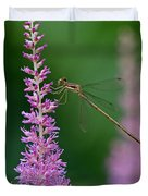 Damselfly Duvet Cover by Juergen Roth