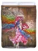 Dance Through The Color Of Life Duvet Cover by Karina Llergo