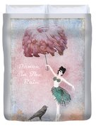 Dancing In The Rain Duvet Cover by Terry Fleckney