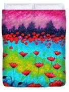 Dancing Poppies Duvet Cover by John  Nolan