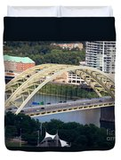 Daniel Carter Beard Bridge Cincinnati Ohio Duvet Cover by Paul Velgos