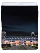 Dark Skies at Citizens Bank Park Duvet Cover by Bill Cannon