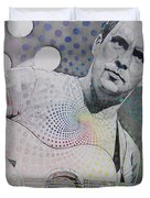 Dave Matthews All the Colors Mix Together Duvet Cover by Joshua Morton