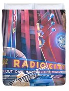 Dave matthews and Tim Reynolds at Radio City Duvet Cover by Joshua Morton
