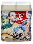 Dave Matthews Seek Up Duvet Cover by Joshua Morton