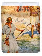 David And Goliath Duvet Cover by William Henry Margetson