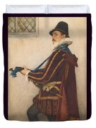 David Rizzio Duvet Cover by Sir James Dromgole Linton