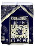 Davy Crocketts Tennessee Whiskey Duvet Cover by Dan Sproul
