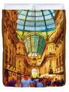 Day At The Galleria Duvet Cover by Jeff Kolker