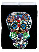 Day Of The Dead Skull Duvet Cover by Genevieve Esson