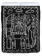 Decorated Elephant Duvet Cover by Caroline Street