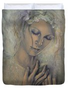 Deep Inside Duvet Cover by Dorina  Costras