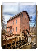 Deep River Grist Mill In Northwest Indiana Duvet Cover by Paul Velgos