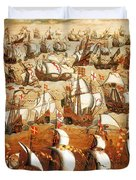 Defeat Of The Spanish Armada 1588 Duvet Cover by Photo Researchers