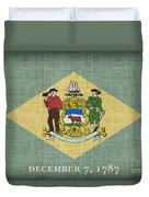 Delaware State Flag Duvet Cover by Pixel Chimp