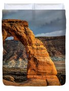 Delicate Arch Duvet Cover by Jeff Burton