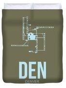 Den Denver Airport Poster 3 Duvet Cover by Naxart Studio