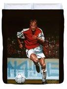 Dennis Bergkamp Duvet Cover by Paul Meijering