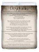 Desiderata - Vintage Sepia Duvet Cover by Marianna Mills