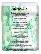 Desiderata - Words Of Wisdom Duvet Cover by Sharon Cummings
