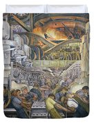 Detroit Industry  North Wall Duvet Cover by Diego Rivera