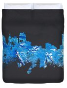 Detroit Michigan Usa Duvet Cover by Aged Pixel
