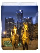 Detroit's Finest Detroit MI Duvet Cover by B And G Art