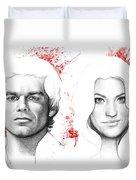 Dexter And Debra Morgan Duvet Cover by Olga Shvartsur