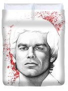 Dexter Morgan Duvet Cover by Olga Shvartsur