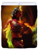 Diabolic. Passionate Dance of the Night Angels Duvet Cover by Jenny Rainbow