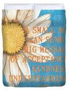 Dictionary Florals 4 Duvet Cover by Debbie DeWitt