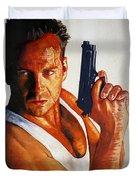 Die Hard Duvet Cover by Michael Haslam