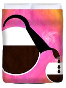 Diner Coffee Pot And Cup Sorbet Pouring Duvet Cover by Andee Design